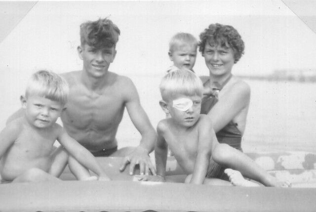 1958 -  2 - At Folkestone beach (probably)