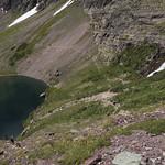 Waterfall at head of Lake Ellen Wilson