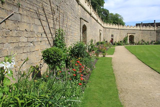 The garden beneath the restored wall walk