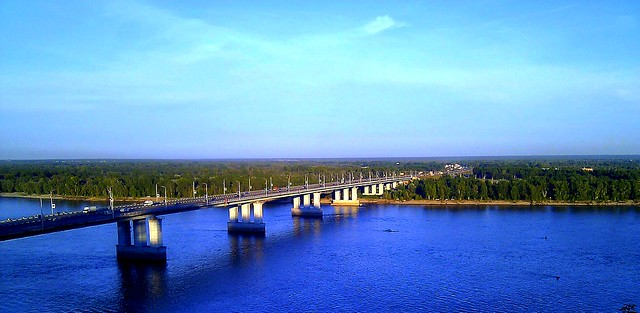New Bridge, Ob' river, Barnaul