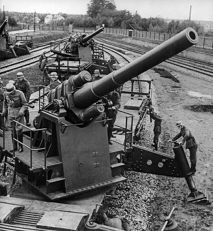 German 150 mm K (E) railway guns