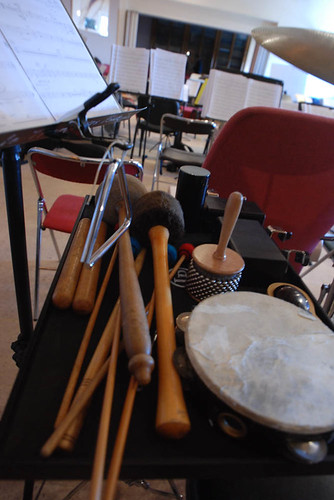 La percussion ça demande de l'organisation