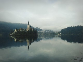 Bled on a cloudy day