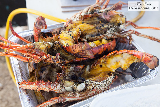 Fresh Anguillan lobsters at one of the vendors at Festival del Mar