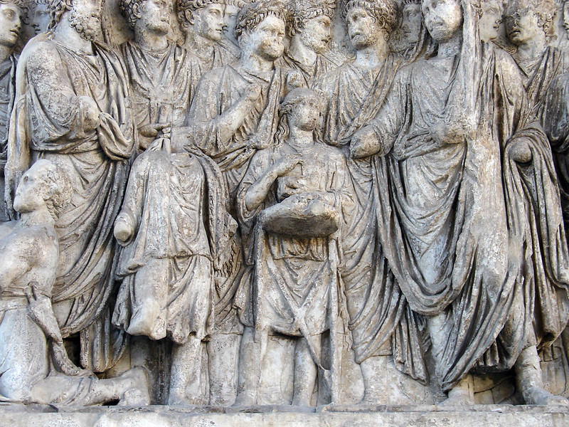 Arch of Trajan, Beneventum: sacrifice (detail)