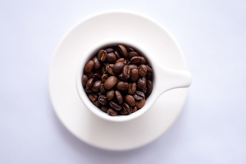 White Cup Full of Coffee Beans | by Image Catalog