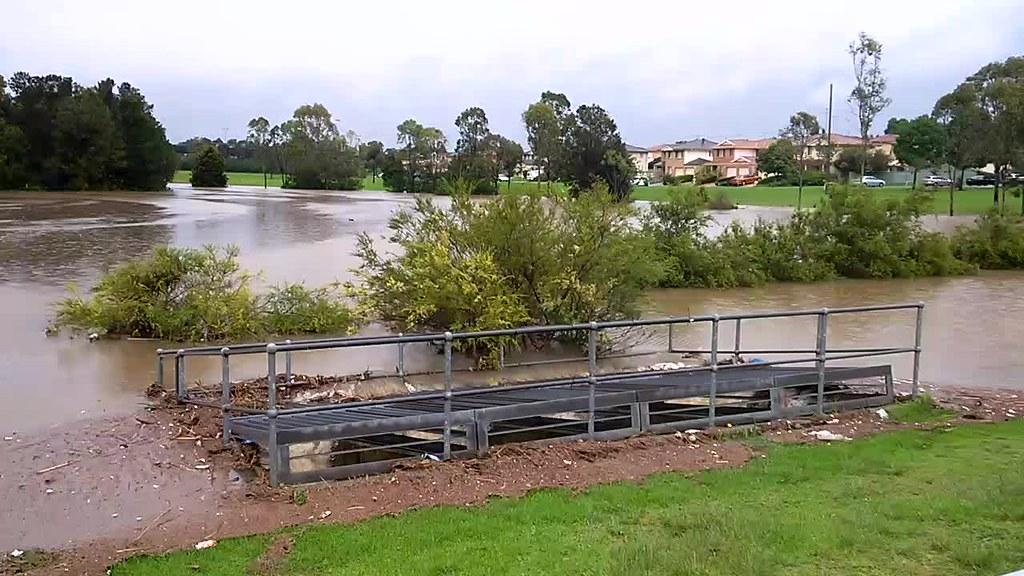 Glenwood pond overflowing