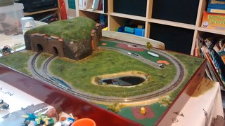 Train layout with tunnel nearing completition | by lilspikey