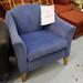 Blue fabric club chair