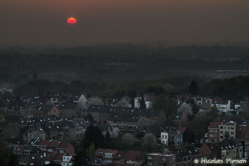 sunset brussels sun clouds canon eos soleil stitch belgium cloudy coucher bruxelles panoramic 7d nuages brussel panoramique 24105 nuageux molenbeeksaintjean