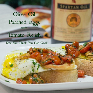 olive-oil-poached-eggs-with-tomato-relish-for-the-evoochallenge-from-sew-you-think-you-can-cook | by CulinaryTravels