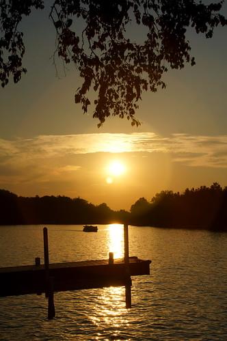 smallwoodlake tittabaswasseeriver nancydar pontoon sunset cruising
