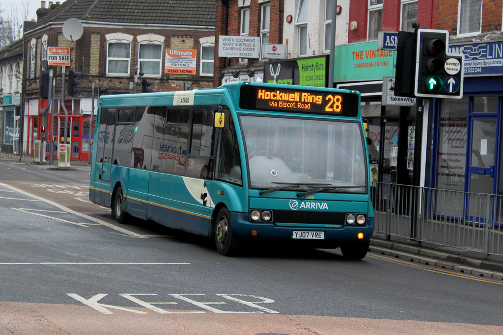 Arriva The Shires Optare Solo YJ07 VRE 2480 , New Bedford … | Flickr