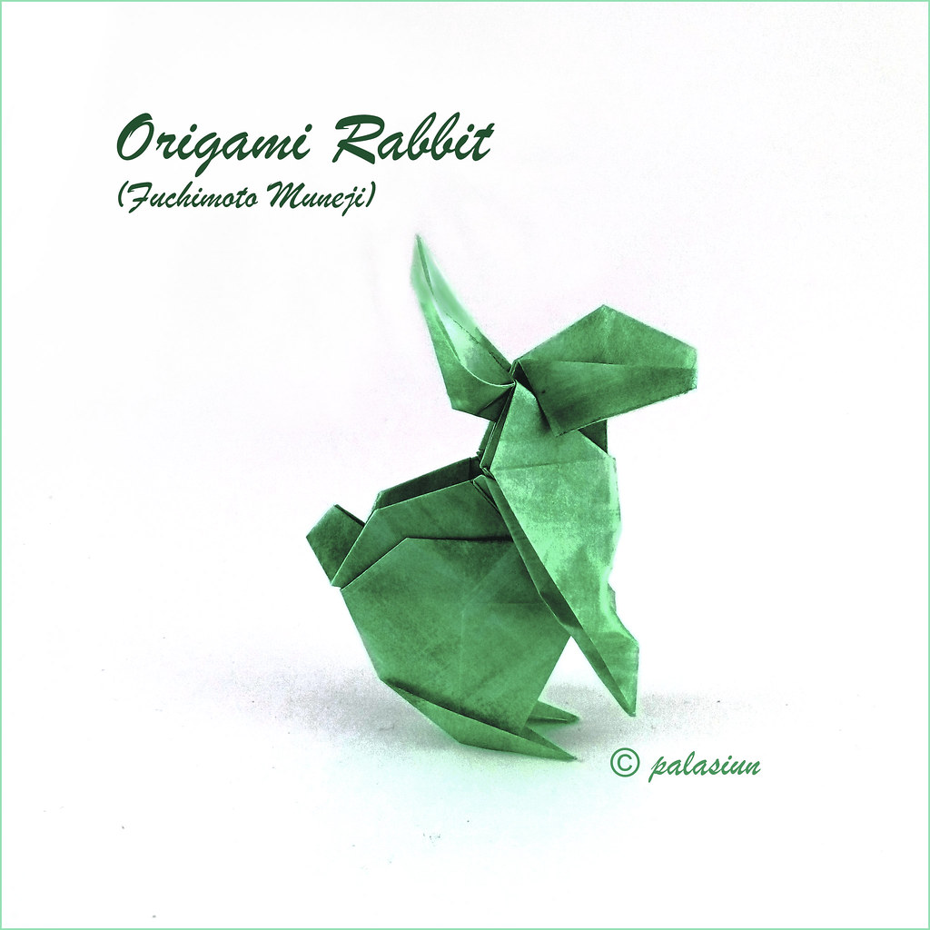 Origami Bunny Rabbit Tutorial V2 - DIY - Paper Kawaii - YouTube   1024x1024