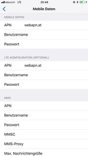 APN Einstellungen educom LTE 3G iPhone / iPad | W__________