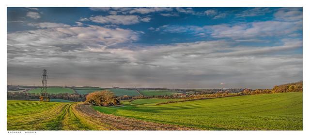 The track leading to Lower Austin Lodge & Chalkhurst, Eynsford, Kent.