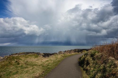 weather shower cumulonimbus hail shelf cloud path sea thunderstorm northern ireland crafordsburn carnalea