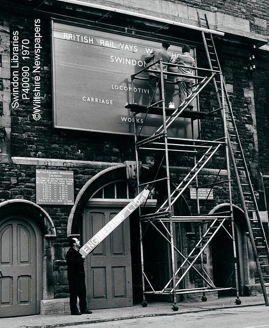 1970: Sign change at Swindon Works