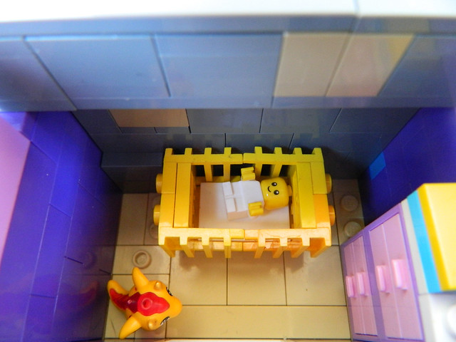 Lego Modular MOC - Bookstore Baby Room Detail