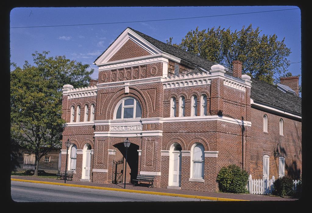 Opera House (facade 1856-1888), Church Street, New Harmony, Indiana (LOC)