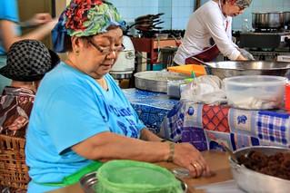 Founder Nyonya Kwek making