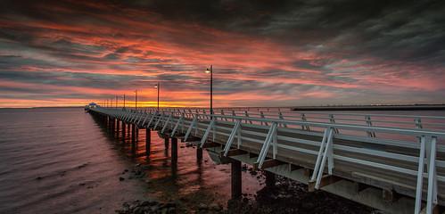 shorncliffe shorncliffepier brisbane queensland australia sunrise ocean water coast canon canon6d canon1740mmf4l pier