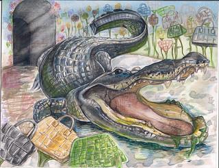 Seungeun Yi, 14, Joy Art Studio, CA | by Endangered Species Coalition