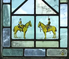 two horsemen by M Farrar Bell, 1977