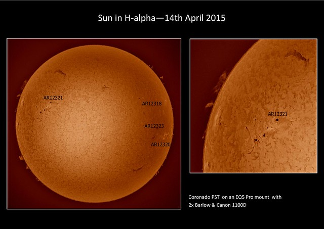 Sun in H-alpha 14/04/15 (Explored)