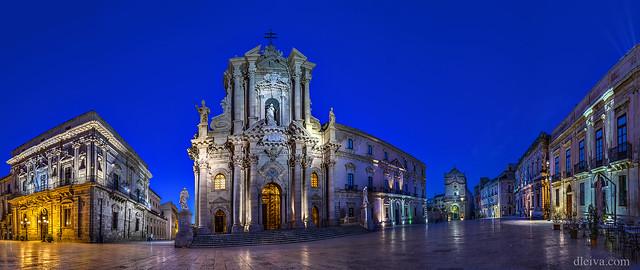 Siracusa, Sicilia, Plaza de la Catedral