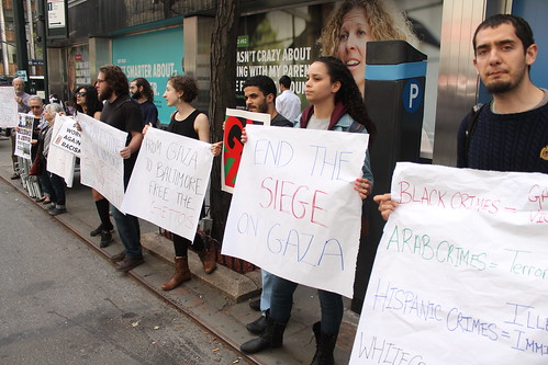 Students protest to support Gaza outside the Israeli consulate in New York City | by joegaza