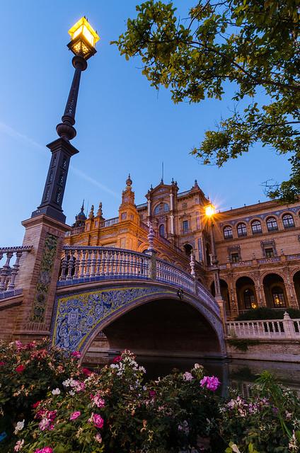 Detalle de la Plaza de España