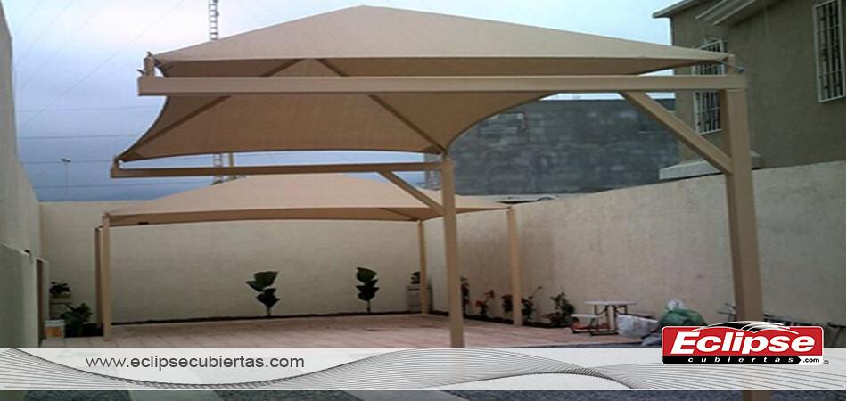 Toldo malla sombra cuatro aguas para patios y terrazas by - Toldos para patios ...