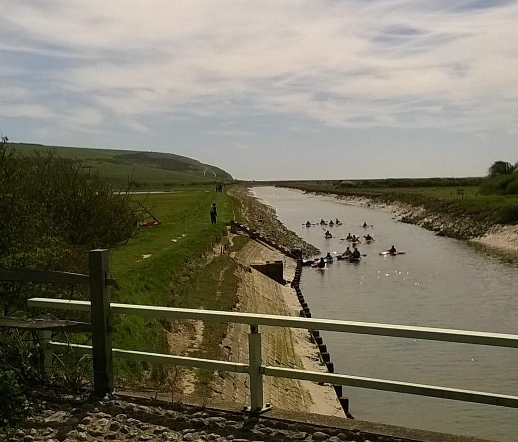 Cuckmere canoeists Exceat Gap