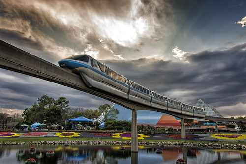 sunset orlando epcot florida disney monorail wdw waltdisneyworld themepark futureworld nikon28300 nikond610