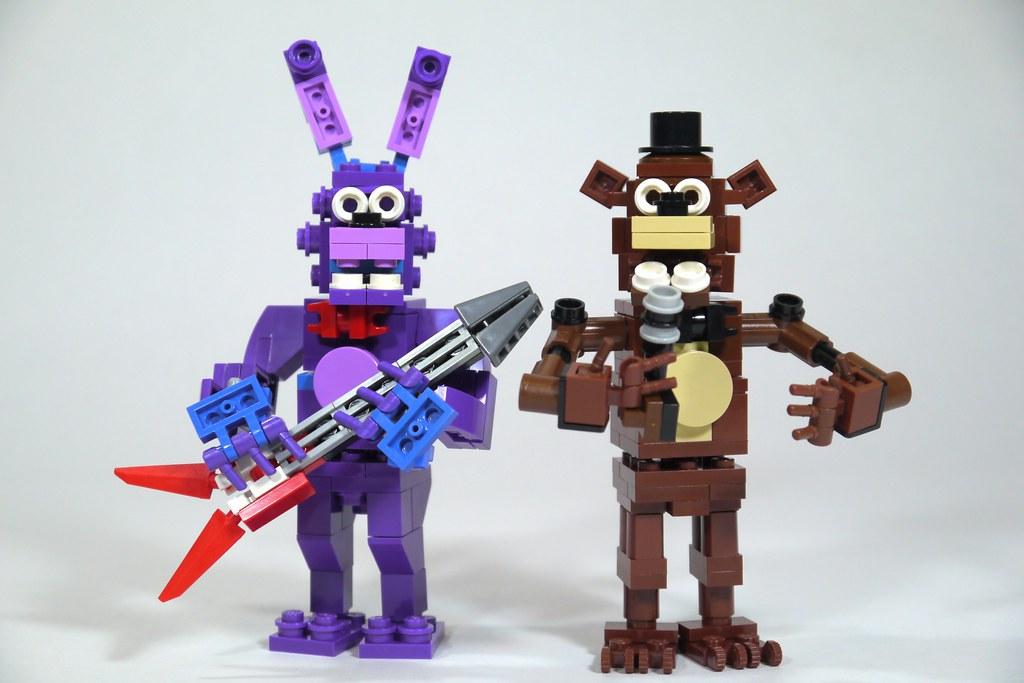 LEGO FNAF: Bonnie & Freddy | See how to build it: www youtub
