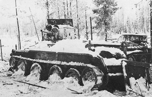 Abandoned tanks BT-7 and BT-5