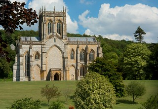 Milton Abbey with chapel in background