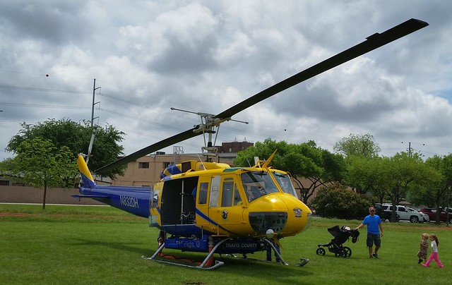 Travis County, TX StarFlight Bell UH-1 Huey Wildfire Helicopter