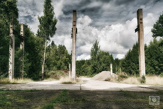 Remains of the crane unit in front of the warhead storage | by UE-Photography - urban exploration & travel