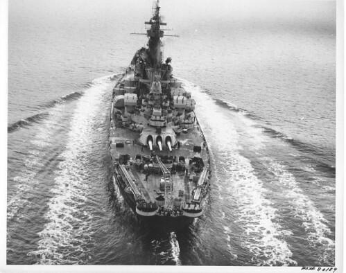 Battleship USS Alabama at sea
