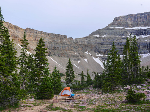 Camp at Amethyst Lake | by snackronym