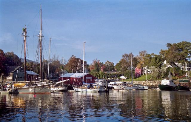 Camden Harbor Columbus Day 2002