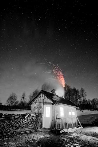 Sugar House At Night Selective   by Tim_NEK