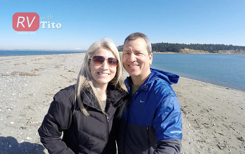 Sat, 03/07/2015 - 11:57 - Melissa and Brian at Fort Flagler. Watch our video from this road trip bit.ly/rvwt-fort-flagler.
