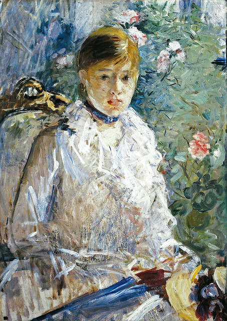 Berthe Morisot - Seated young lady 13e [1878] (the-summer) - Montpellier Musée Fabre
