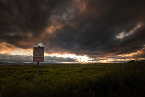 sunset sky cloud sign cheshire outdoor military tokina filter area range restricted burton firing graduated wirral marshes the deeside 1116 nd8