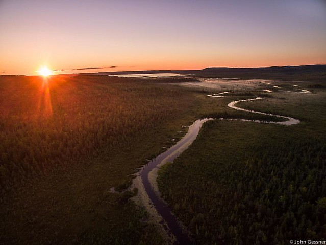 Sunrise solitude - a winding river that I had no idea was this beautiful before the #phantom3 made it possible. #dji #drone #sunrise #puremichigan #river #aerial #fromaboveseebelow #traversecity