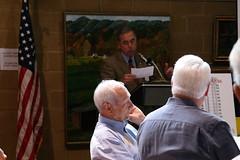 President Scott Tarkenton making announcements