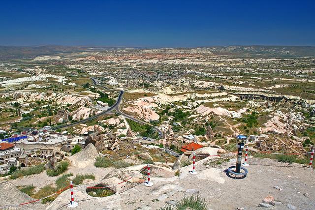 IMG_4633 Vista dalla Fortezza di Uçhisar, Cappadocia, Turchia